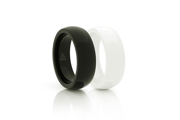 Black and White McLEAR Ring